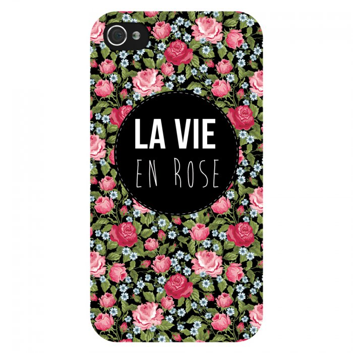 Coque rigide la vie en rose pour iPhone 4 / 4S
