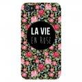 Coque iPhone 4 /4S rigide transparente La Vie en Rose Ecriture Tendance et Design Evetane
