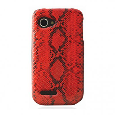 Mocca coque effet python rouge Wiko Cink Slim