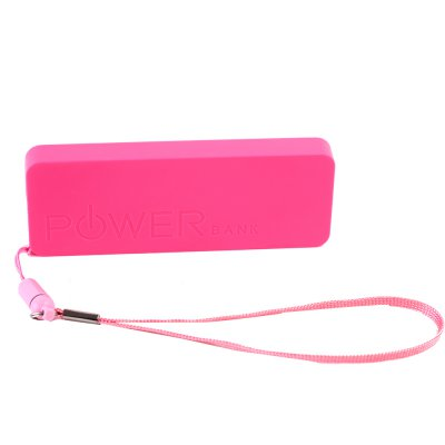 Mini batterie rose porte-clé Power Bank 4600 mAh