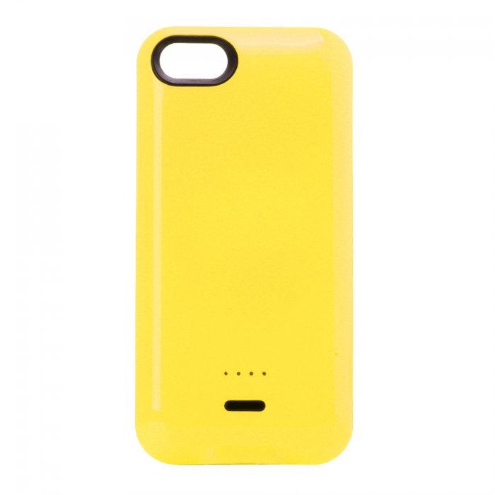 coque batterie 2800 mah jaune pour iphone 5c