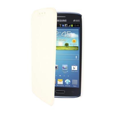 SWISS CHARGER Etui folio slim blanc pour Samsung Galaxy Core I8260 / I8262