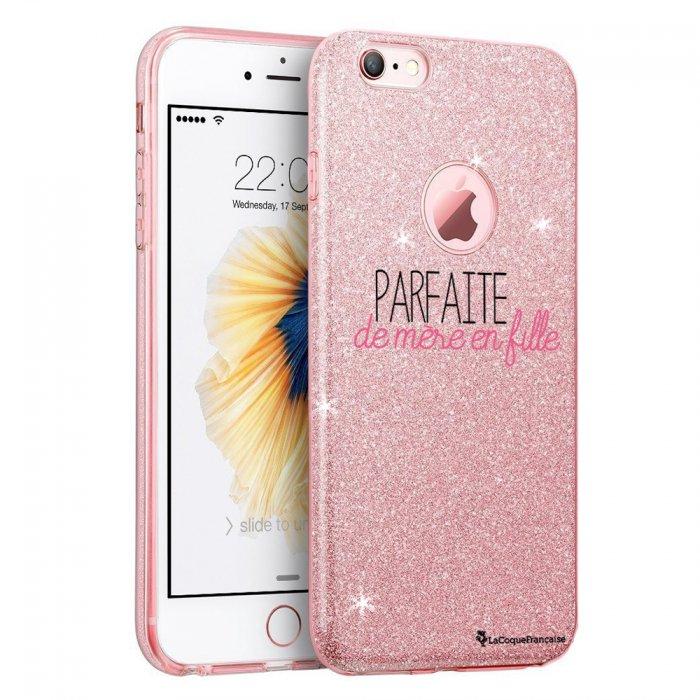 coque iphone 6 iphone 6s paillettes rose parfaite de mere en fille la coque francaise