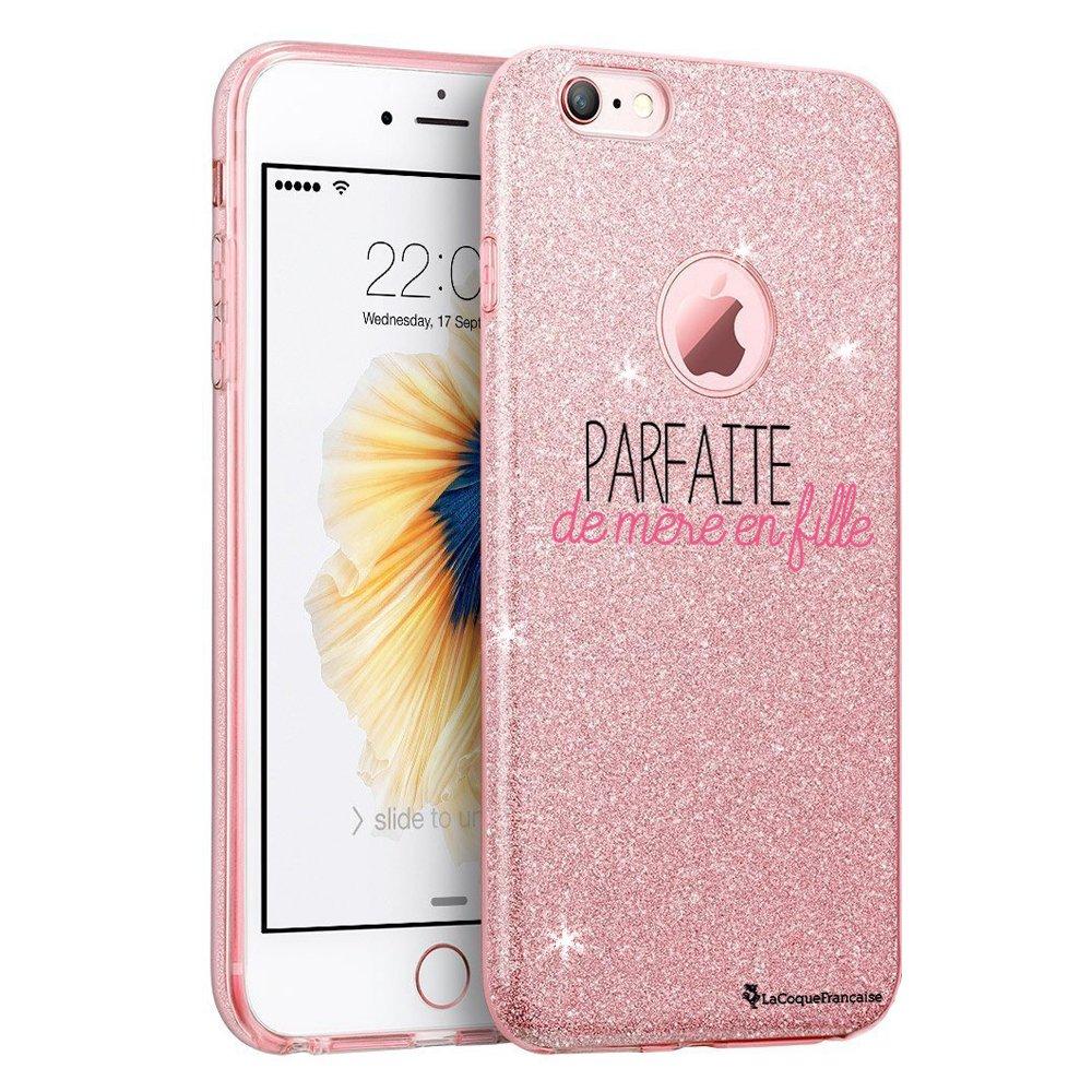Coque souple paillettes iPhone 6/6S paillettes rose Parfaite mère ...