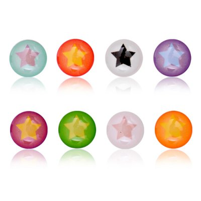 Sticker bouton étoiles multicolore pour iPhone