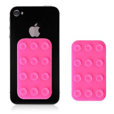Plaquette de fixations à ventouses roses pour Smartphone