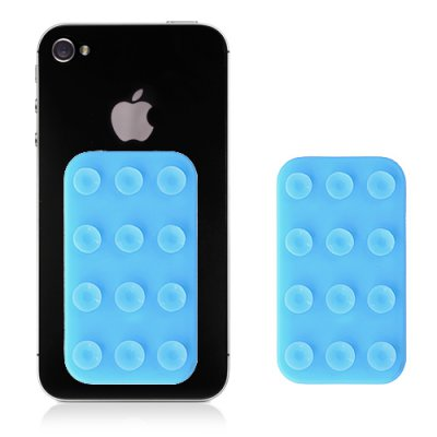 Plaquette de fixations à ventouses bleus pour Smartphone