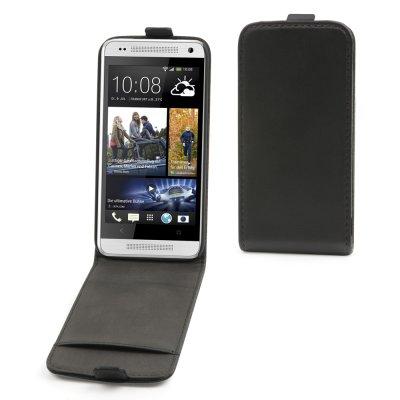 E-line étui Slim noir PU lisse pour HTC One Mini