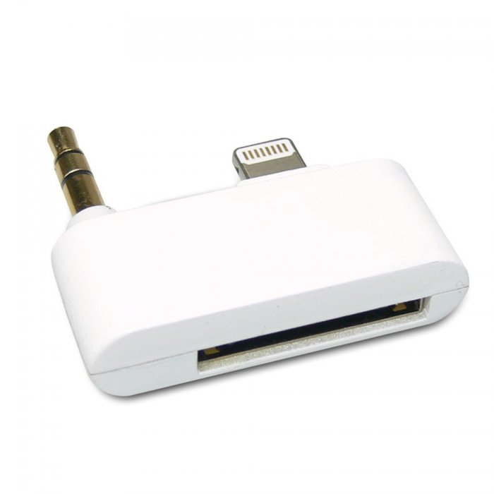 Adaptateur 30 broches vers lightning / audio mini jack 3.5 mm