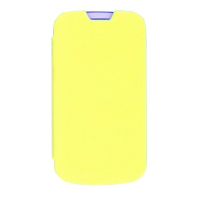 made in France étui coque jaune pour Samsung Galaxy Trend S7560 / S Duos S7562