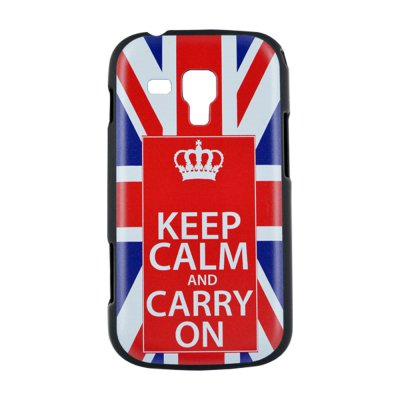 Coque rigide made in France Keep Calm UK pour Samsung Galaxy Trend S7560 / S Duos S7562