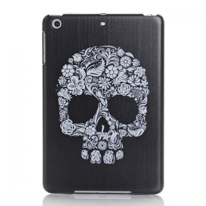 Coque noire Flower Skull pour iPad Mini