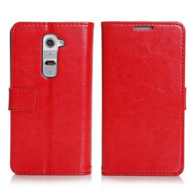 Etui livre rouge pour LG Optimus G2
