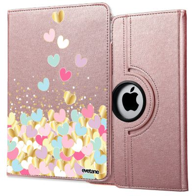Etui iPad Mini rigide rose gold, Cœurs Pastels, Evetane®