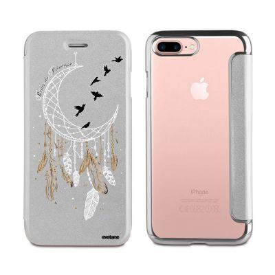 Etui iPhone 7 Plus / 8 Plus souple argent, Rêves de princesse, Evetane®