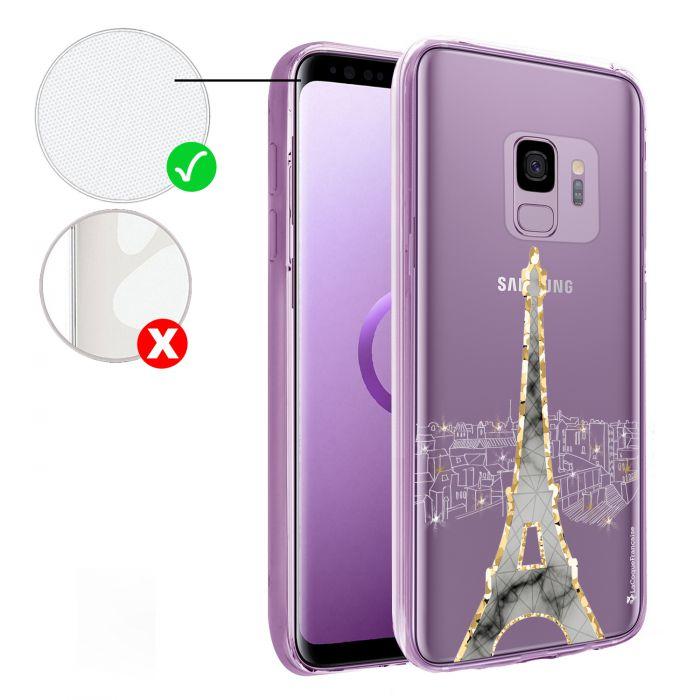 Coque Samsung Galaxy S9 Plus 360 intégrale transparente Illumination de paris Tendance La Coque Francaise - Coquediscount