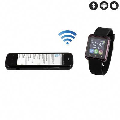 Montre connectée compatible IOS et Android en Bluetooth - Noir