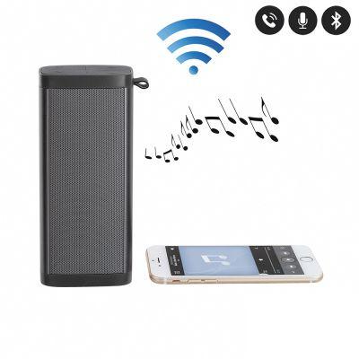 Haut-parleur compatible Bluetooth® noir métallisé  Microphone intégré