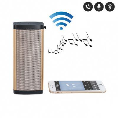 Haut-parleur compatible Bluetooth® doré  Microphone intégré