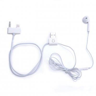 Câble 2 en 1 charge / synchronisation lightning et ecouteur new generation jack 3.5 mm