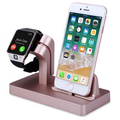 Support pour Apple Watch et iPhone - rose Gold (vendu sans la montre et le téléphone)
