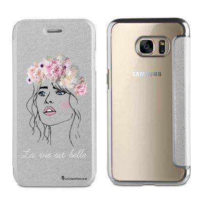 Etui Samsung Galaxy S7 souple argent, La vie est belle, La Coque Francaise®