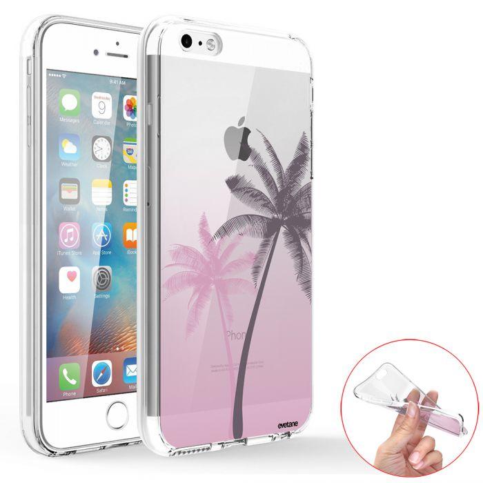 coque iphone se 5s 5 360 integrale transparente palmiers et degrade evetane