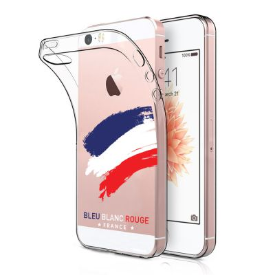 Coque iPhone 5C souple transparente, France, Evetane®