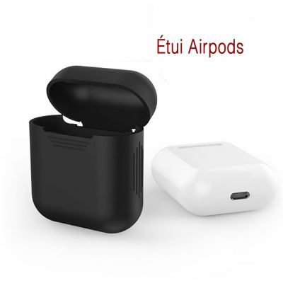 Housse silicone pour AirPods Noir
