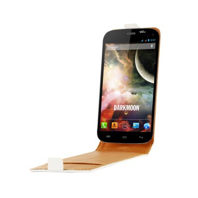 SWISS CHARGER Etui cuir blanc pour Wiko Darkmoon