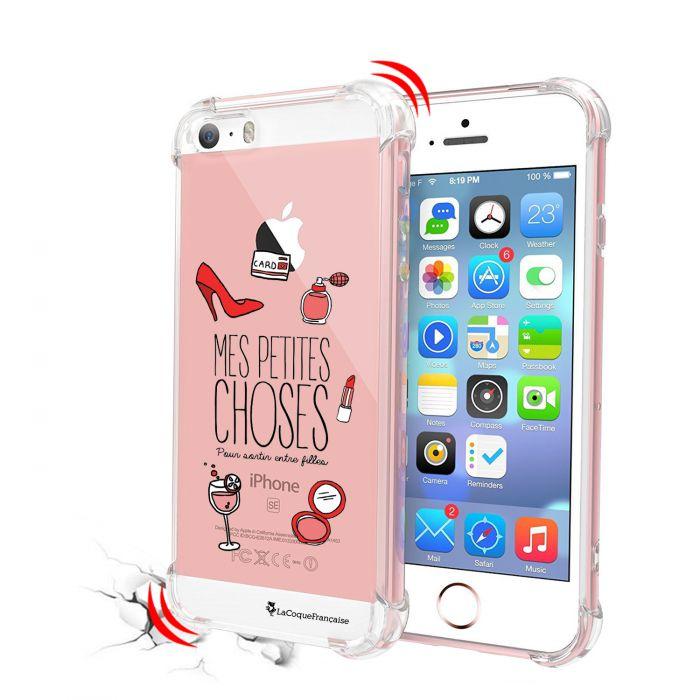 coque iphone 5 5s se anti choc souple avec angles renforces transparente pour sortir entre filles la coque francaise