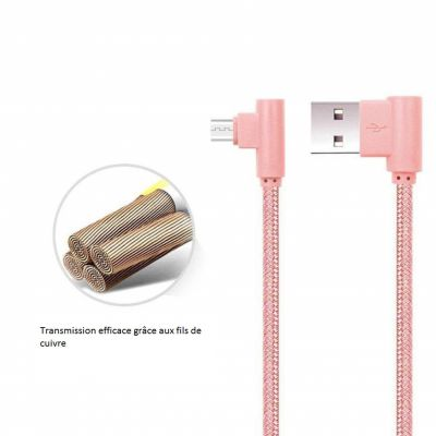 Câble 1 m USB/Micro USB ROSE GOLD