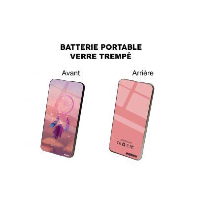 Batterie verre trempé  Attrape rêve rose, Evetane®
