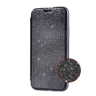 Etui de protection pailleté Noir  avec coque arrière en silicone pour iPhone 7/8