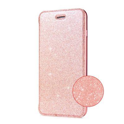 Etui de protection pailleté Rose avec coque arrière en silicone pour iPhone 7/8