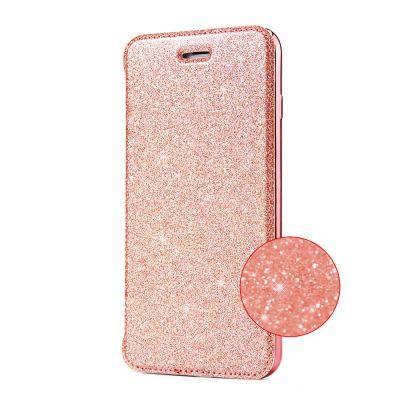 Etui de protection pailleté Rose avec coque arrière en silicone pour iPhone 6/6S
