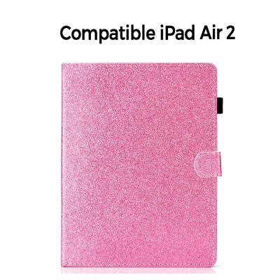 Etui folio avec stand rose pailleté pour iPad Air 2