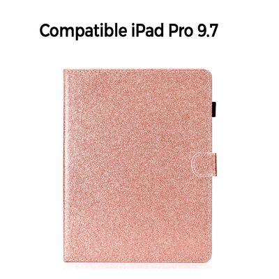 Etui folio avec stand rose gold pailleté pour iPad Pro 9.7