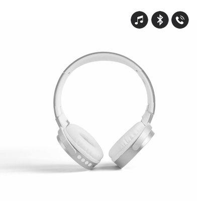 Casque argent compatible Bluetooth - Micro intégré/ Ajustable et rotatif