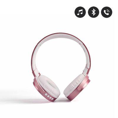 Casque rose gold compatible Bluetooth - Micro intégré/ Ajustable et rotatif