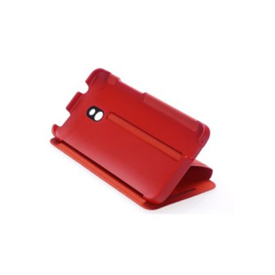 Etui Flip HTC One Mini Double Dip Rouge