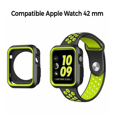 Bumper souple sport noir et vert pour Apple Watch 42mm