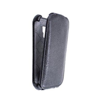 Star Case étui clapet noir Roma pour Samsung Galaxy Trend S7560 / S Duos S7562