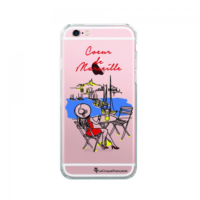 coque souple iphone 6 iphone 6s souple transparente coeur de marseille la coque francaise