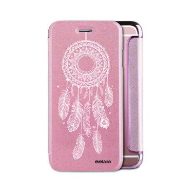 Etui iPhone 6/6S souple rose gold Attrape reve blanc Ecriture Tendance et Design Evetane