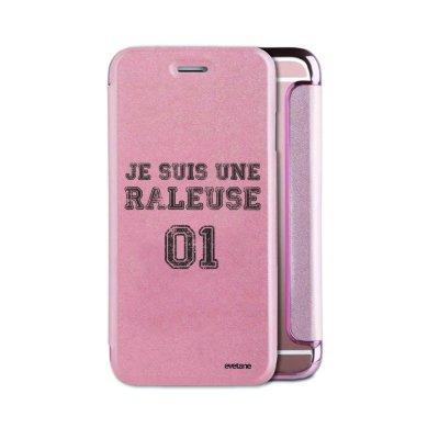 Etui iPhone 6/6S souple rose gold Râleuse Ecriture Tendance et Design Evetane
