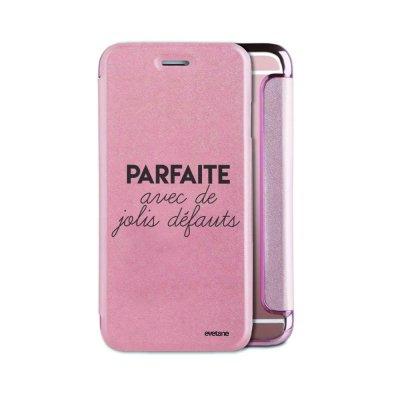 Etui iPhone 6/6S souple rose gold Parfaite Avec De Jolis Défauts Ecriture Tendance et Design Evetane