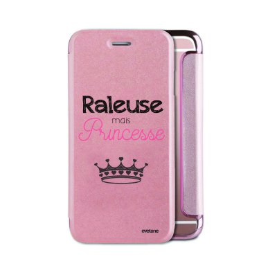 Etui iPhone 6/6S souple rose gold Raleuse mais princesse Ecriture Tendance et Design Evetane