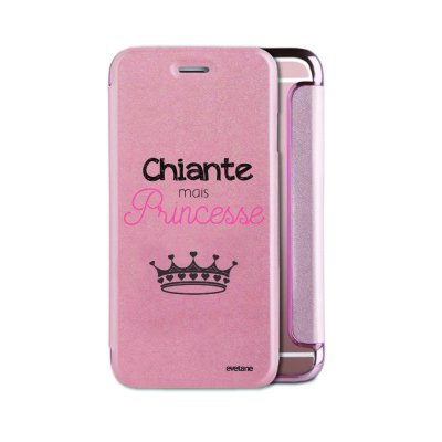 Etui iPhone 6/6S souple rose gold Chiante mais princesse Ecriture Tendance et Design Evetane