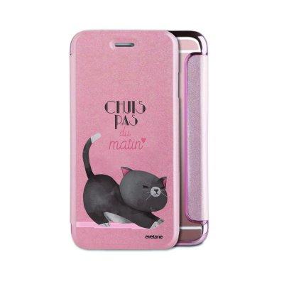 Etui iPhone 6/6S souple rose gold Chuis pas du matin Ecriture Tendance et Design Evetane